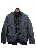 Y's()の古着「レイヤード中綿ジャケット」 ブラック