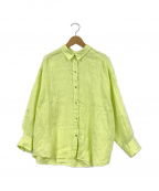Spick and Span(スピックアンドスパン)の古着「ビッグリネンシャツ」|黄緑