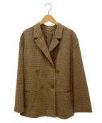 Adam et Rope(アダムエロペ)の古着「ルーズダブルブレストジャケット」 ブラウン
