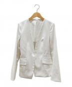 PLST(プラステ)の古着「リネンブレンドカラージャケット」|ホワイト