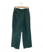 VERMEIL par iena(ヴェルメイユパーイエナ)の古着「麻2タックパンツ」 グリーン