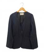 UNITED ARROWS(ユナイテッドアローズ)の古着「リネンジャケット」|ブラック