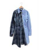 ()の古着「シャツワンピース」 ブルー