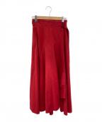 ATON(エイトン)の古着「ラップスカート」 レッド