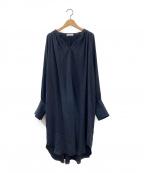 CASA FLINE(カーサフライン)の古着「シャツワンピース」|ブラック