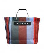 MARNI(マルニ)の古着「フラワーカフェトートバッグ」|ブルー×レッド