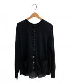 sacai(サカイ)の古着「デザインカーディガン」|ブラック
