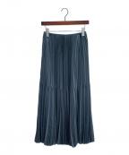 ASTRAET(アストラット)の古着「ランダムプリーツスカート」|ダークグレイ
