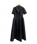 KEINA RITA(ケイタ リタ)の古着「シルク混ワンピース」|ブラック