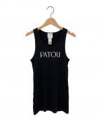patou(パトゥ)の古着「ノースリーブカットソー」|ブラック