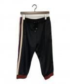 GUCCI(グッチ)の古着「サイドロゴトラックパンツ」|ブラック