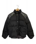 ()の古着「ヨークレザーバック刺繍ダウンジャケット」 ブラック