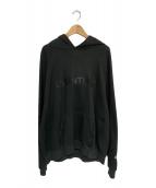 ()の古着「ラバーロゴロゴフーディー」|ブラック