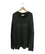 FOG ESSENTIALS(フィアオブゴッド エッセンシャル)の古着「ロゴロングスリーブTシャツ」|ブラック