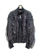 sacai(サカイ)の古着「スパンコールレースジャケット」|ブラック
