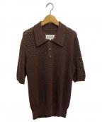 Maison Margiela(メゾンマルジェラ)の古着「ニットポロシャツ」|ブラウン
