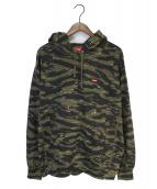 ()の古着「Small Box Hooded Sweatshirt」|カーキ