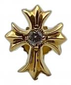 CHROME HEARTS(クロムハーツ)の古着「CHクロス スタッド ダイヤモンドピアス」