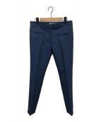 ()の古着「ジャガードパンツ」 ブルー