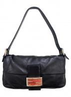 ()の古着「レザーマンマバケットハンドバッグ」|ブラック