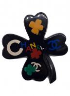 CHANEL(シャネル)の古着「クローバーブローチ」|ブラック