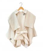 Snidel(スナイデル)の古着「ポンチョ型コート」|ホワイト