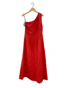 ()の古着「one shoulder dress」 レッド