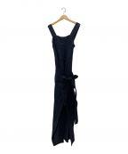 CASA FLINE(カーサフライン)の古着「Iラインラップドレス」 ブラック