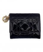 Christian Dior(クリスチャン ディオール)の古着「ロータスウォレット」|ブラック